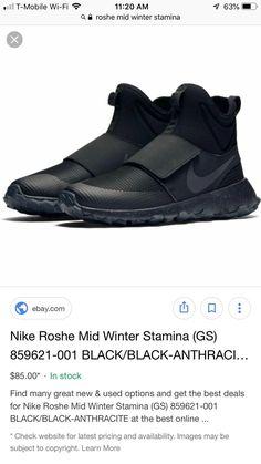 GS Nike Roshe Mid Winter Stamina 859621-001 BLACK//BLACK-ANTHRACITE