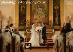 St Margaret's Church, Airdrie.    Photo:  Blue Sky Wedding Photography.