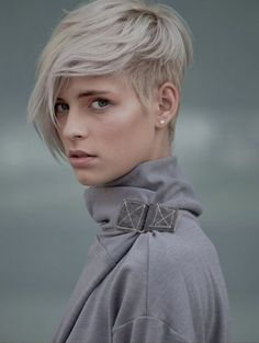 pixie with long asymmetric bangs