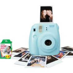 Get set for instax mini 8 blue at Argos. Fujifilm Instax Mini 8, Polaroid Camera, Instant Camera, Christmas Gift Guide, Technology, Argos, Pink, Cameras, Gifts