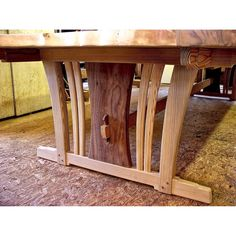 """Another of """"the ones that got away"""". Very cool table & no good photos to show for it; shame on me. The materials are reclaimed long leaf pine & claro walnut. #conferencetable #trestletable #longleafpine #handmade #handmadefurniture #customfurniture #highendfurniture #handcrafted #woodworking #finewoodworking #interiordesign #luxuryfurniture #furnituremaker #studiofurniture #beautifulfurniture #bespokefurniture"""