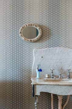 Lattice BP 3503 - Wallpaper Patterns - Farrow & Ball - pairs with strong white/all white, pavilion gray/manor house gray, downpipe/cornforth white