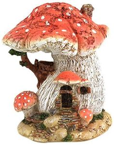 Red Mushroom Fairy House for your Miniature Fairy Garden #TopCollection