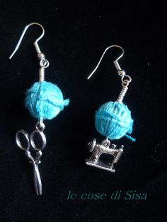 cutting and sewing earrings