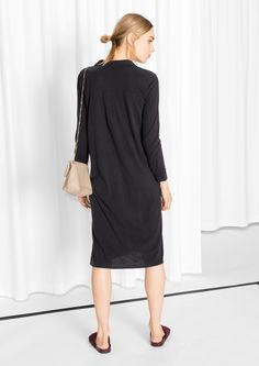 & Other Stories | Silk Jersey Shirt Dress