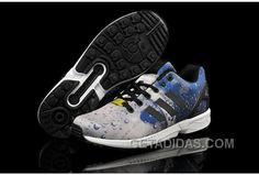 size 40 1e2b7 f5334 Soldes Adherence Exceptionnelle Homme Adidas Originals ZX Flux Ocean Water  Grise Bleu Noir Chaussures Magasin Christmas Deals N6mtXTE, Price   71.00  ...