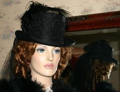 Hey, I found this really awesome Etsy listing at https://www.etsy.com/listing/559909/victorian-hat-edwardian-riding-hat