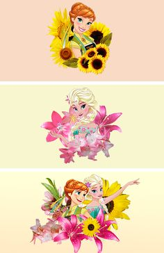 """""""Sisters are different flowers from the same garden."""" #frozenfever"""
