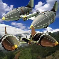 David D'Champs' Tesla Airship