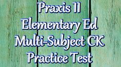 Free Praxis II Elementary Education (5001) Multi-subject Math Practice Test