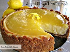 Lemon Glazed Cheesecake. By now everyone probably realizes my loves and one of them is lemon. This sounds like it would transport one to food heaven in a heartbeat:) Pour that coffee darlin:) YUM.