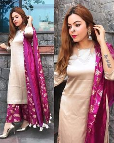 The latest dress trends for the latest new fashion trends, outfit ideas, celebrity style, designer news and runway looks. Kurta Designs Women, Salwar Designs, Kurti Designs Party Wear, Dress Neck Designs, Designs For Dresses, Dress Indian Style, Indian Dresses, Latest Dress Trends, Kurta Neck Design