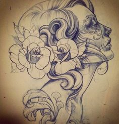 Sugar skull gypsy girl
