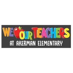 Teacher Application, Message For Teacher, Teacher Bulletin Boards, Teacher Appreciation Week, Custom Banners, Pta, School Teacher, Desi, Students