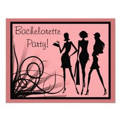 Pink and Black Dress Silhouette Bachelorette Party Personalized Invitations online after you search a lot for where to buyThis Deals          Pink and Black Dress Silhouette Bachelorette Party Personalized Invitations please follow the link to see fully reviews...