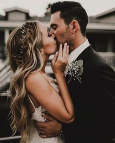 Long Hair with Braid and Headpiece // Follow us on Instagram, Facebook and Twitter: @thebohemianwedding // #weddingideas #bride #headpiece #weddinghair