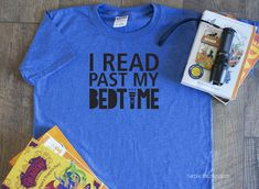 I read past my bedtime and bookmarks are for quitters t-shirt svg cut files for cricut