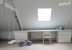 Attic Playroom, Attic Rooms, Attic Spaces, Boys Room Decor, Home Decor Bedroom, Loft Conversion Bedroom, Pallet Seating, Silver Bedroom, Teenage Room
