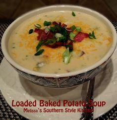 Melissa's Southern Style Kitchen: Loaded Baked Potato Soup