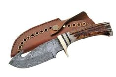 Amazon.com: Szco Supplies Damascus Guthook Skinning Knife: Sports & Outdoors