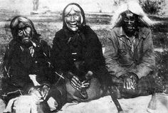 Three Cree women, all over the age of 100 years, photographed by W. H. Hunt