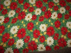 Vintage Christmas tablecloth linen 56 x 56 by Gingerbread123