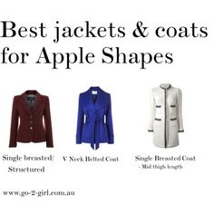 The best jackets & coats for apple body shapes Apple Body Shape Outfits, Apple Shape Fashion, Dresses For Apple Shape, Mature Fashion, 60 Fashion, Plus Size Fashion, Petite Fashion, Fashion Ideas, Fashion Tips