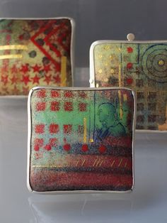 RUTH BALL DESIGN | Enamel Portfolio: Urban City Summer Brooches - experimental pieces