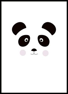 Cute poster with a cute graphical panda print. Fits nicely in the children's room and is easily matched with our other children's posters of similar style. Looks great in either a black or white frame. www.desenio.co.uk
