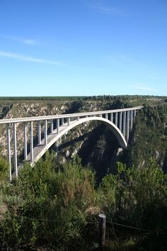 Bloukrans Bridge Bungee - Highest official bungee jump in the world, and I did it!best 4 seconds of my life to feel the adrenaline of a complete free-fall Arch Bridge, Pedestrian Bridge, Table Mountain Cape Town, Bungee Jumping, Vacation Places, Vacations, Adventure Activities, The Beautiful Country, Cool Countries