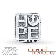 Charmed Memories Star Wars Hope Charm Sterling Silver