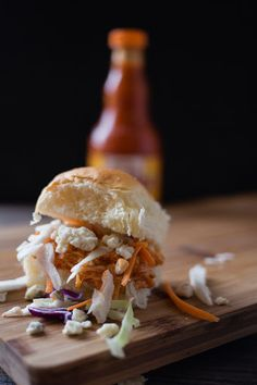 Loaded Buffalo Chicken Sliders
