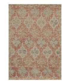 Look at this Red Helena Wool Rug on #zulily today!