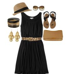 Dear stylist:  I would love a black dress like this for my trip. ~Heather