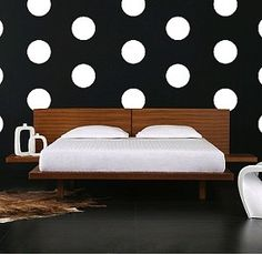 Even Polka Dot Wall Decals - in case I don't want to paint them on em's wall