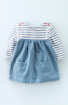 Mini Boden 'Hotchpotch' Long Sleeve Dress (Baby Girls & Toddler Girls) available at #Nordstrom