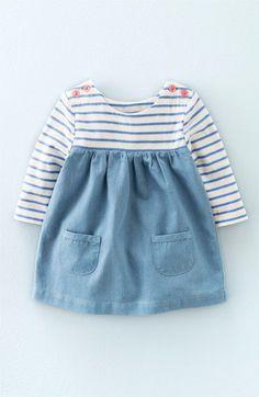 Mini Boden 'Hotchpotch' Long Sleeve Dress (Baby Girls