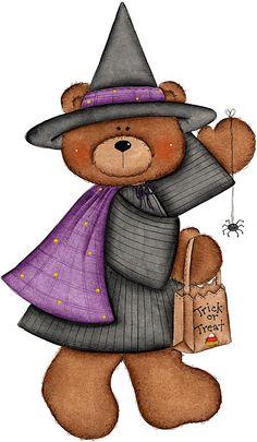 HALLOWEEN TEDDY BEAR CLIP ART