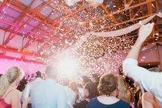 Wedding reception confetti celebration, last dance