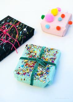"""3 Easy DIY Gift Wrapping Ideas via """"12 Days of DIY"""" on Love from Ginger"""