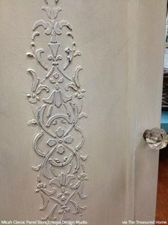Open Up to Painting Your Door with Stencil Designs from Royal Design Studio - 7 DIY Decorating Ideas