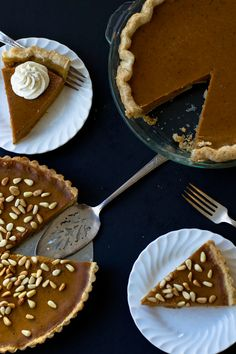 Curry Anise Pumpkin Tart and Traditional Pumpkin Pie recipe.  Perfect for Thanksgiving!
