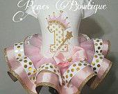 Princess Crown Ribbon Tutu Set