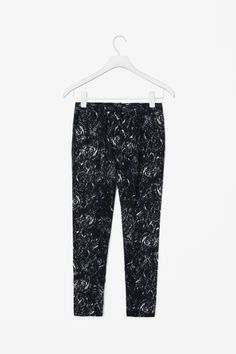 Printed pleat trousers