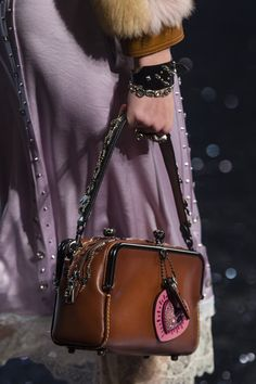 Coach at New York Fashion Week Spring 2018 - Details Runway Photos Selena Gomez Coach, Fashion Bags, Fashion Accessories, Designer Handbag Brands, Mini Backpack Purse, Coach 1941, Luxury Bags, Coach Purses, My Bags