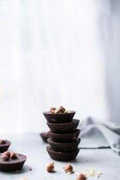 Chocolate Hazelnut Butter Cups (Vegan, Gluten-Free, Refined Sugar Free) by The Green Life