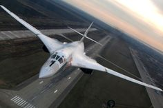 The Tupolev Tu-160 is a supersonic, variable-sweep wing heavy strategic bomber designed by the Tupolev Design Bureau in the Soviet Union.