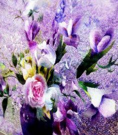 Купить картина Цветы в вазе - комбинированный, цветы, букет цветов, картина, картина в подарок
