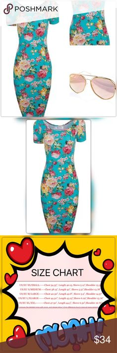 HP🎉🚨  Sexy Vintage Floral Dress 🌷Very Classy Look 100% brand new and good quality.  Material Cotton Blend/ Polyester.  If you need an XL,  it is in a separate listing😉 Dresses Midi