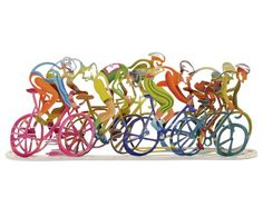 Bicycles The Race Table Sculpture Bicycle Bicycle Painting, Bicycle Art, Laser Cut Metal, 3d Laser, Metal Walls, Metal Wall Art, Joy Art, Metal Art Sculpture, Cycling Art